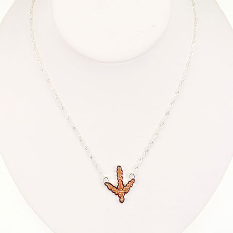 Seasons Jewelry Virginia Tech Crystal Logo 17 inch Necklace