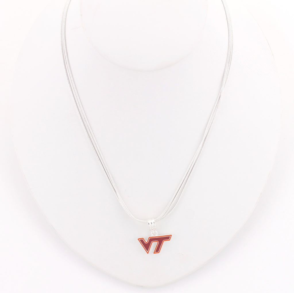 Virginia Tech Enamel Logo Necklace