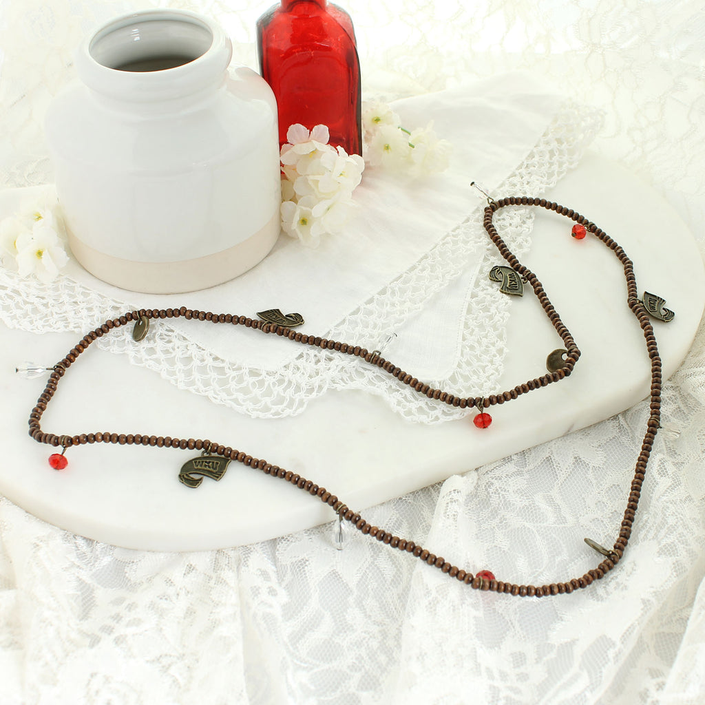 Western Kentucky Wood Bead Stretch Necklace/Bracelet