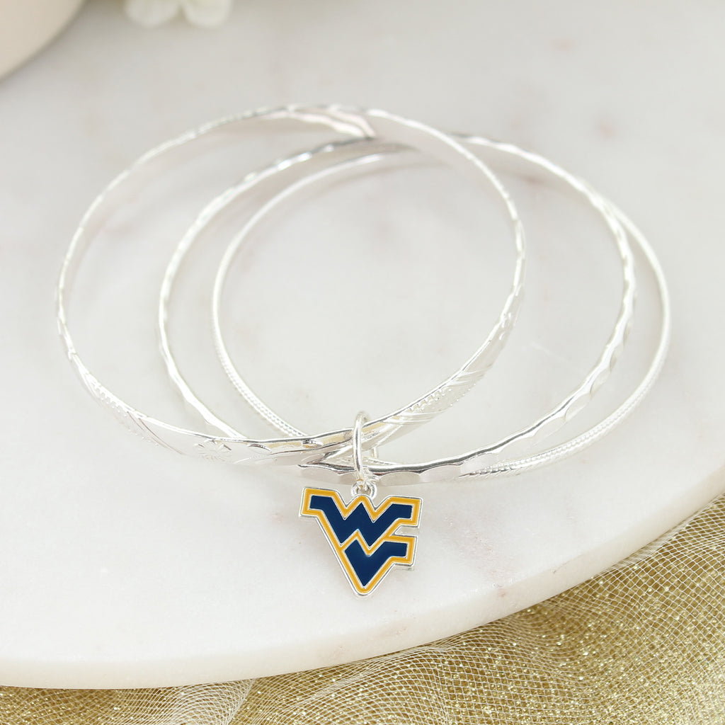 West Virginia Logo Bangle Bracelets
