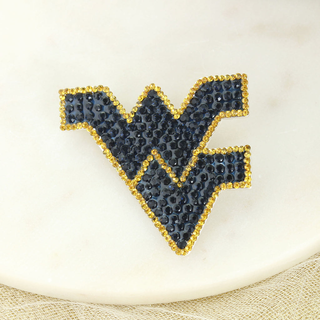 West Virginia Crystal Logo Pin