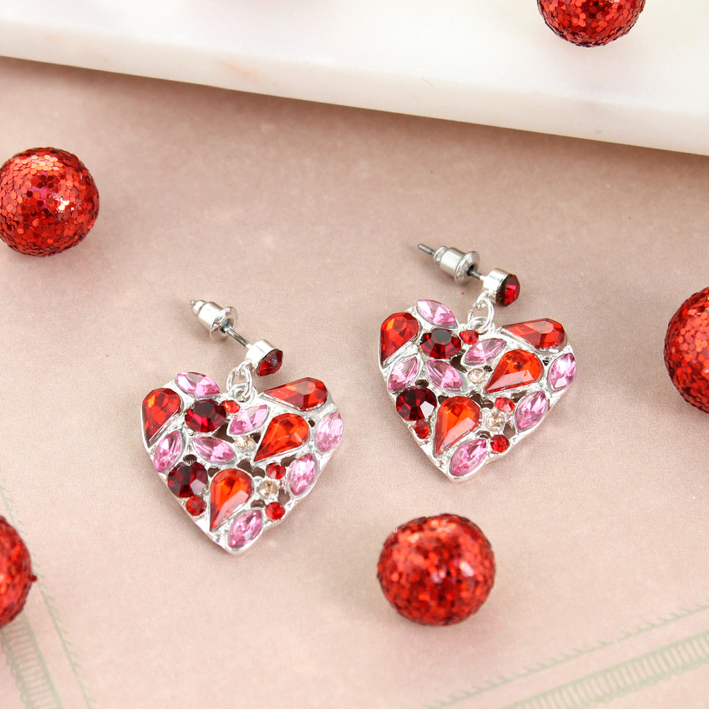 Jewel Heart Earrings