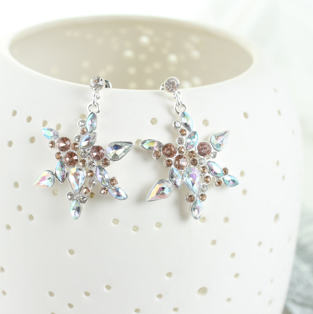 Jewel Snowflake Earrings