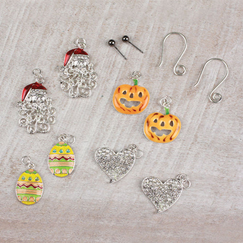 Seasons Jewelry All Seasons Interchangeable Earring Set