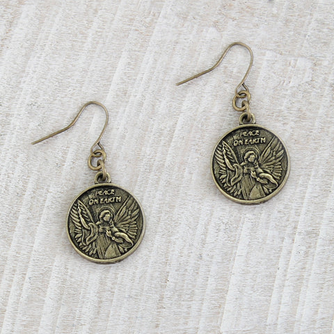 Angel Coin Earrings