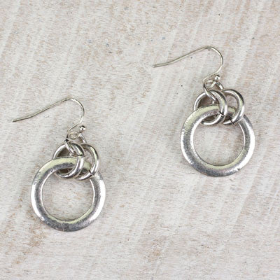 Seasons Jewelry Silver Circle Earrings