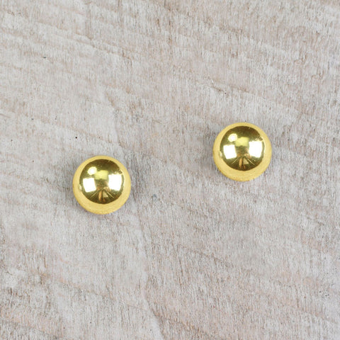 Seasons Jewelry Gold Bead Stud Earrings