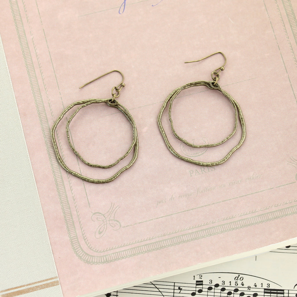 Vintage Style Circle Earrings