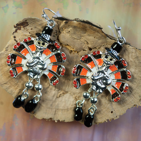 Dangle Leg Turkey Earrings