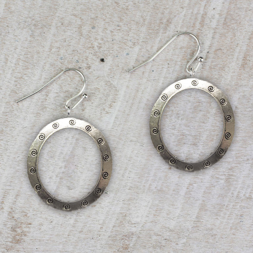 Seasons Jewelry Oval Swirl Earrings