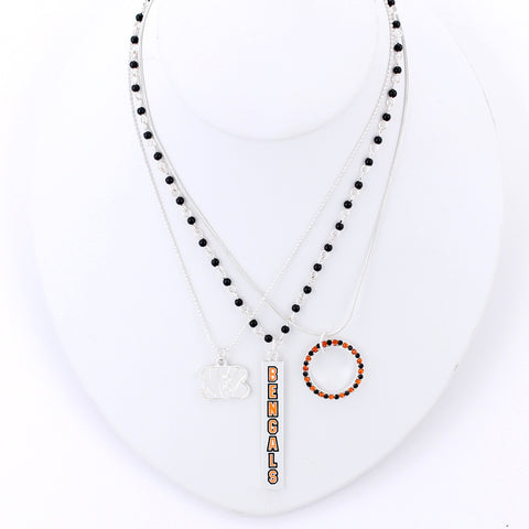 Cincinnati Bengals Trio Necklace Set