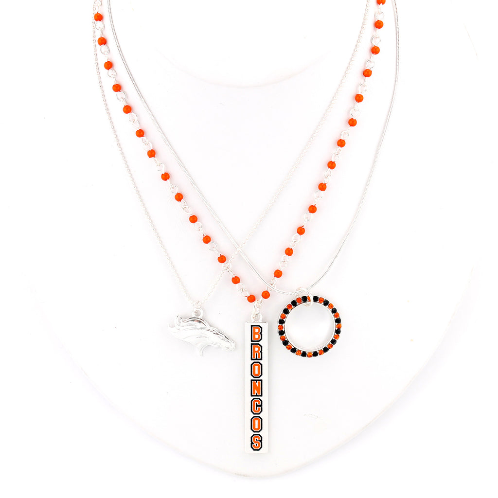 Denver Broncos Trio Necklace Set