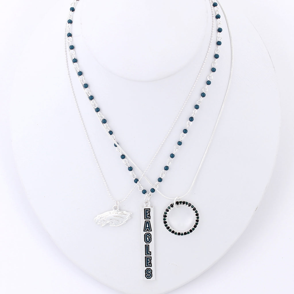 Philadelphia Eagles Trio Necklace Set