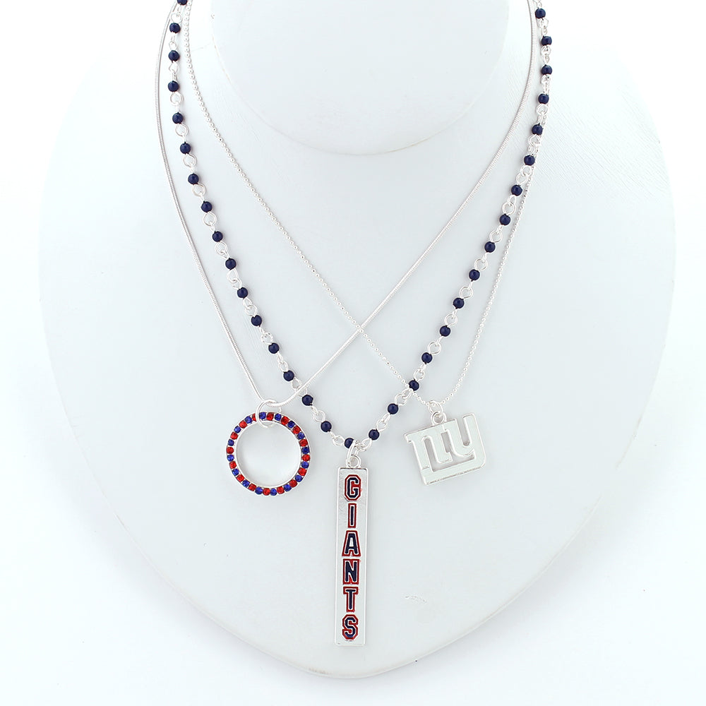 New York Giants Trio Necklace Set