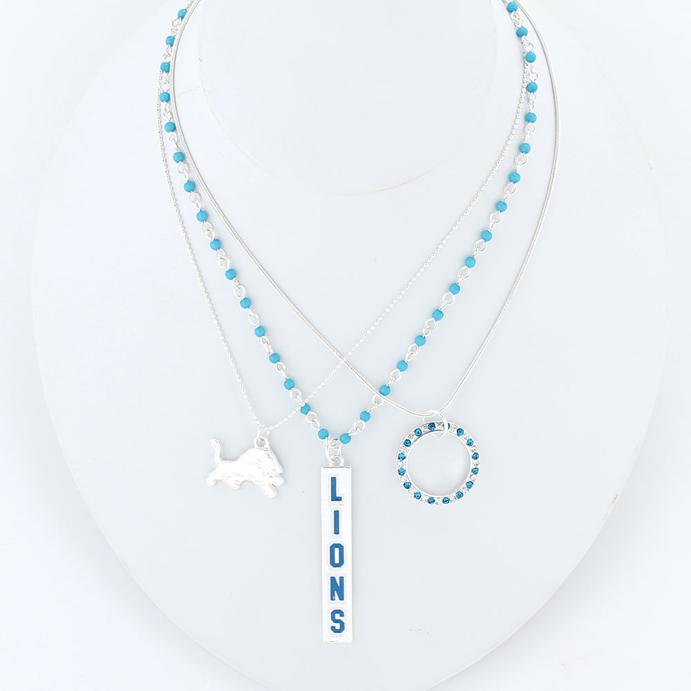 Detroit Lions Trio Necklace Set