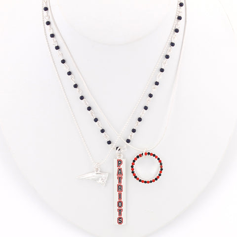 New England Patriots Trio Necklace Set