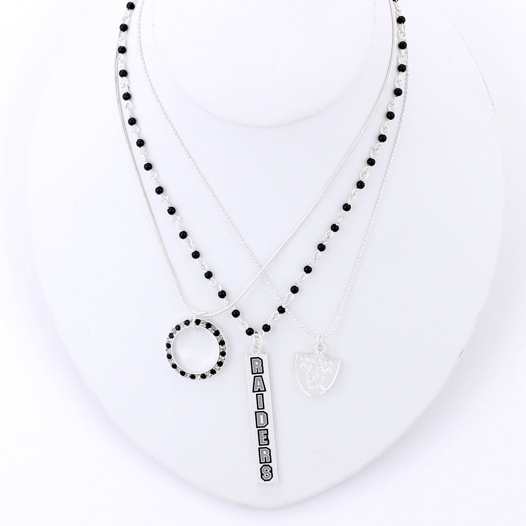 Oakland Raiders Trio Necklace Set