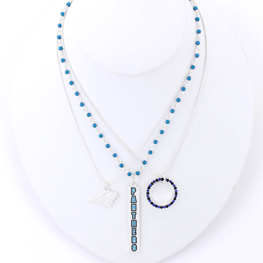 Carolina Panthers Trio Necklace Set