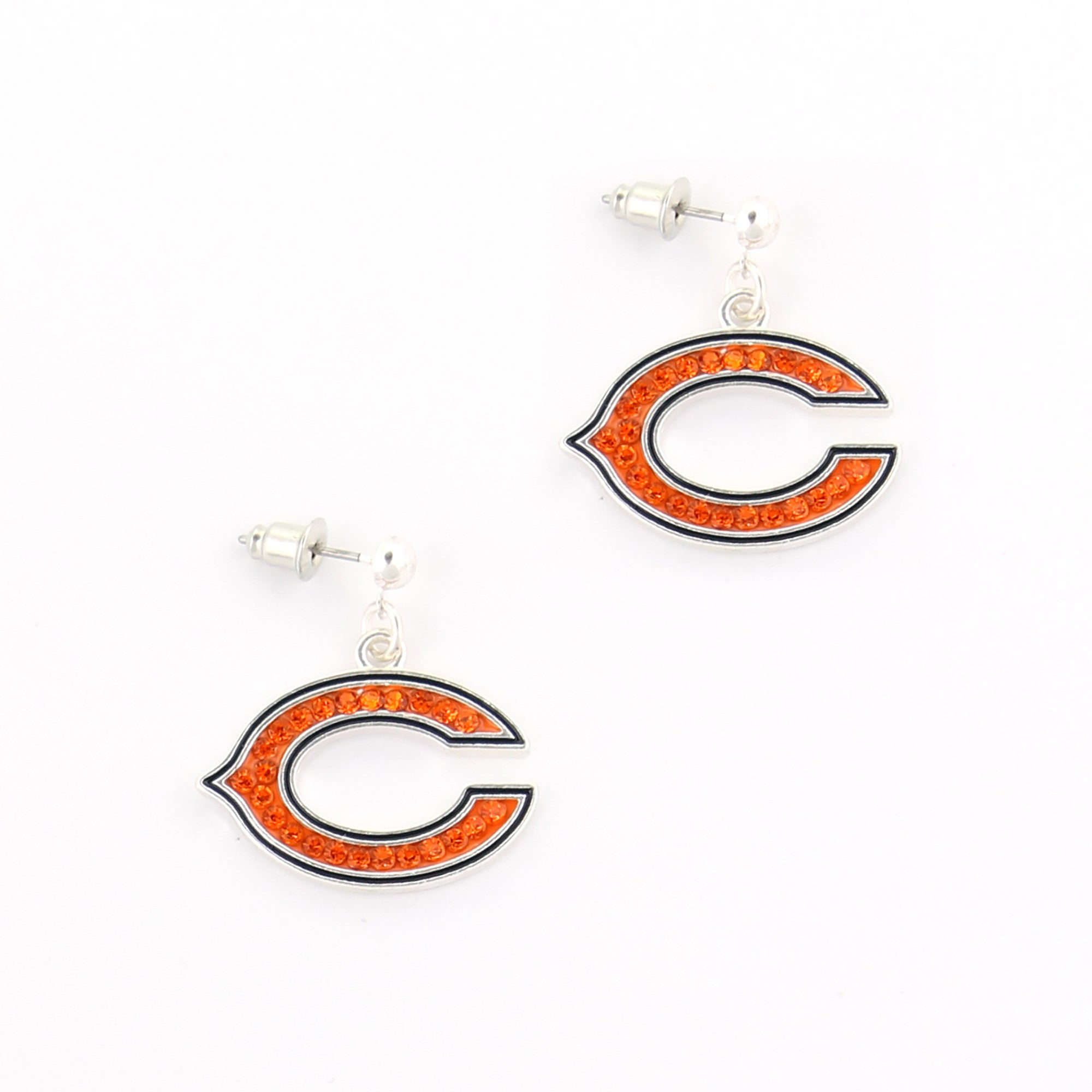 Brilliant Chicago Bears Crystal Logo Earrings Ocoug Best Dining Table And Chair Ideas Images Ocougorg