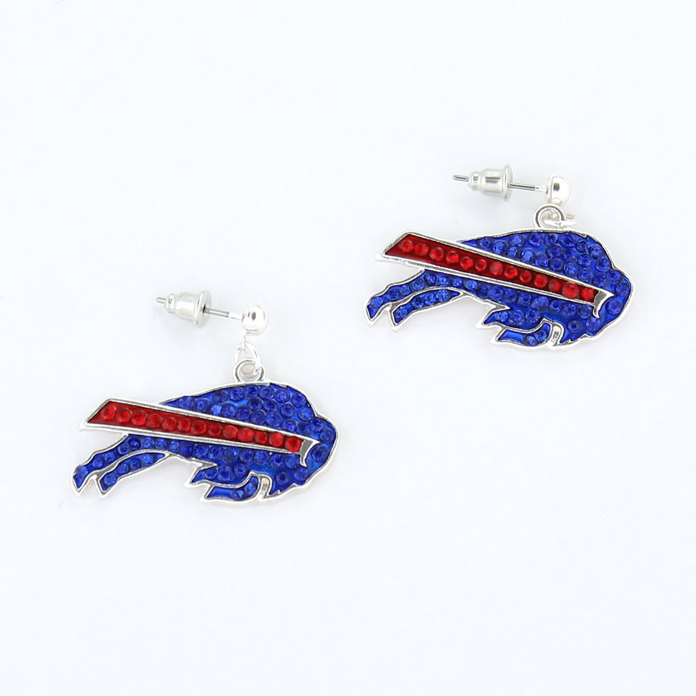 Buffalo Bills Crystal Logo Earrings
