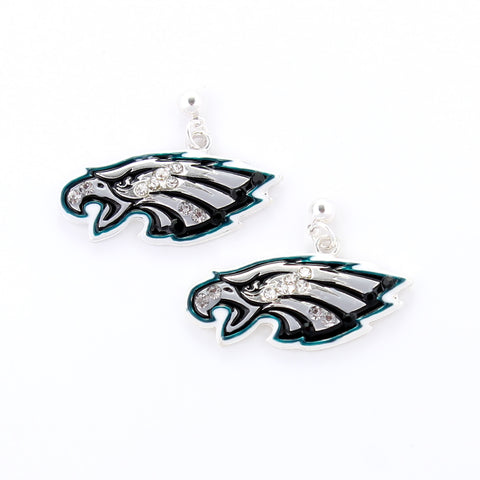 Philadelphia Eagles Crystal Logo Earrings
