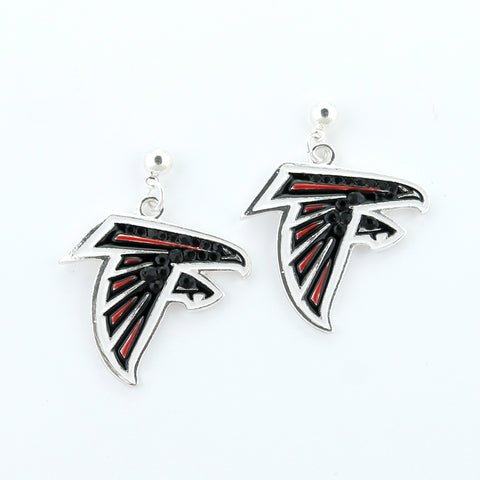 Atlanta Falcons Crystal Logo Earrings