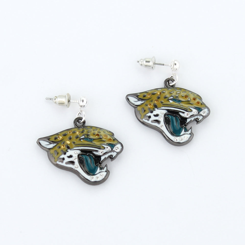 Jacksonville Jaguars Crystal Logo Earrings