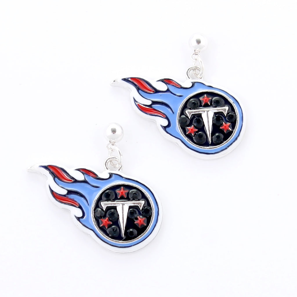 Tennessee Titans Crystal Logo Earrings