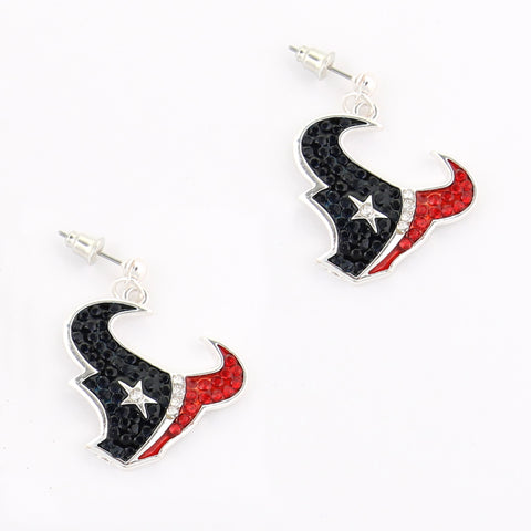 Houston Texans Crystal Logo Earrings
