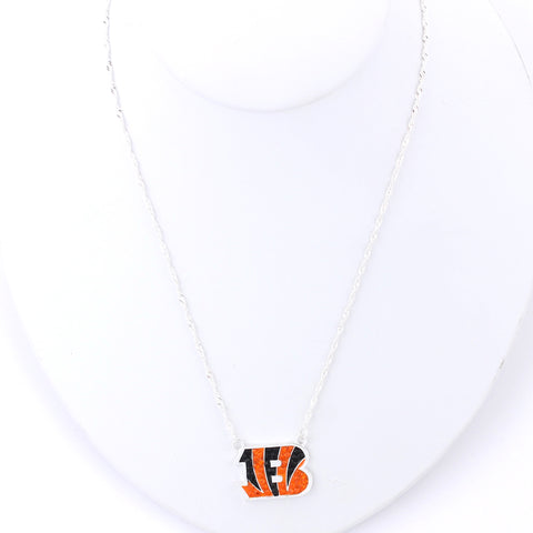 Cincinnati Bengals Crystal Logo Necklace