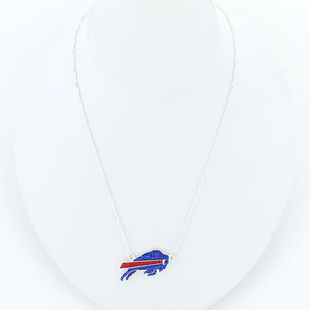 Buffalo Bills Crystal Logo Necklace