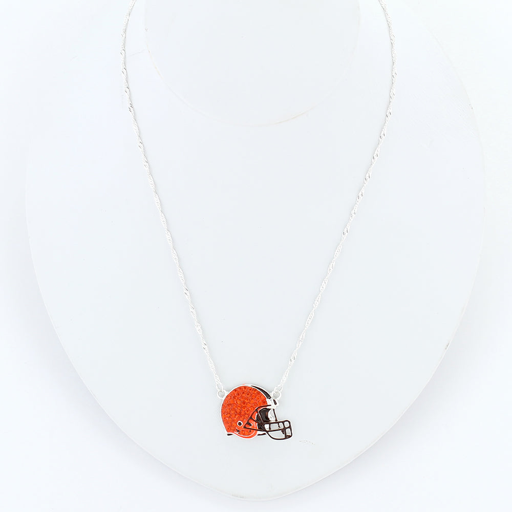 Cleveland Browns Crystal Logo Necklace