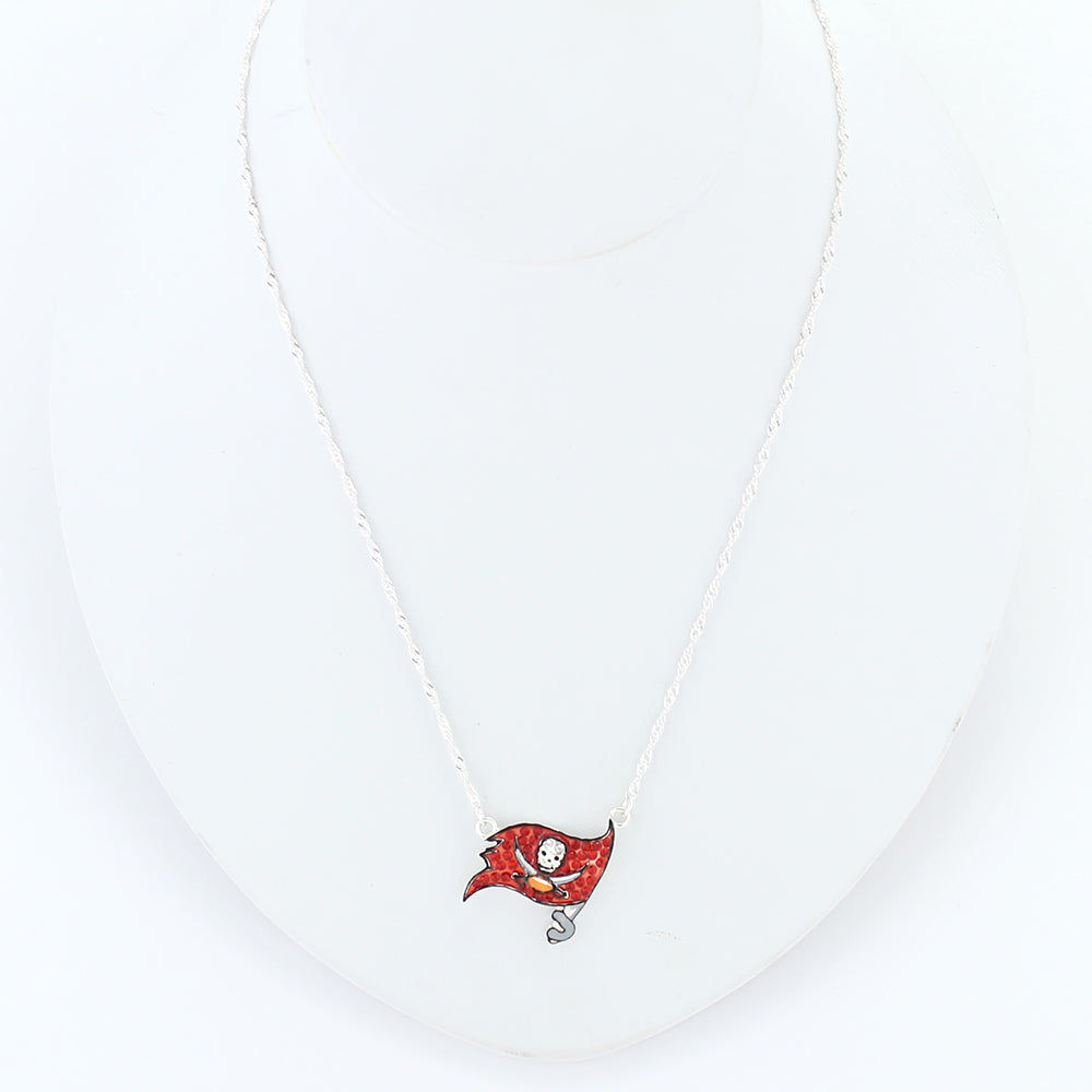 Tampa Bay Buccaneers Crystal Logo Necklace
