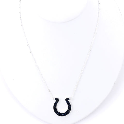 Indianapolis Colts Crystal Logo Necklace