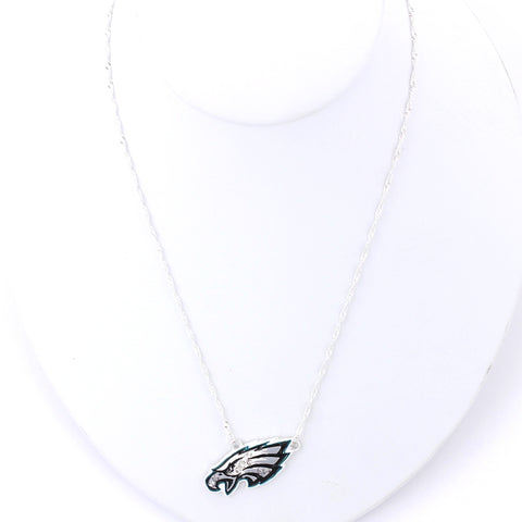 Philadelphia Eagles Crystal Logo Necklace