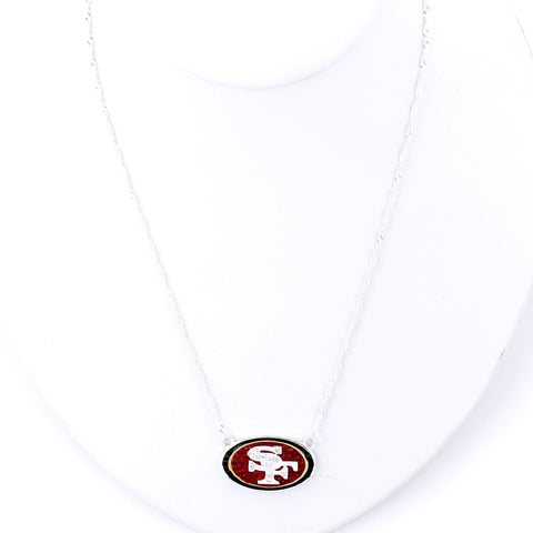 San Francisco 49ers Crystal Logo Necklace