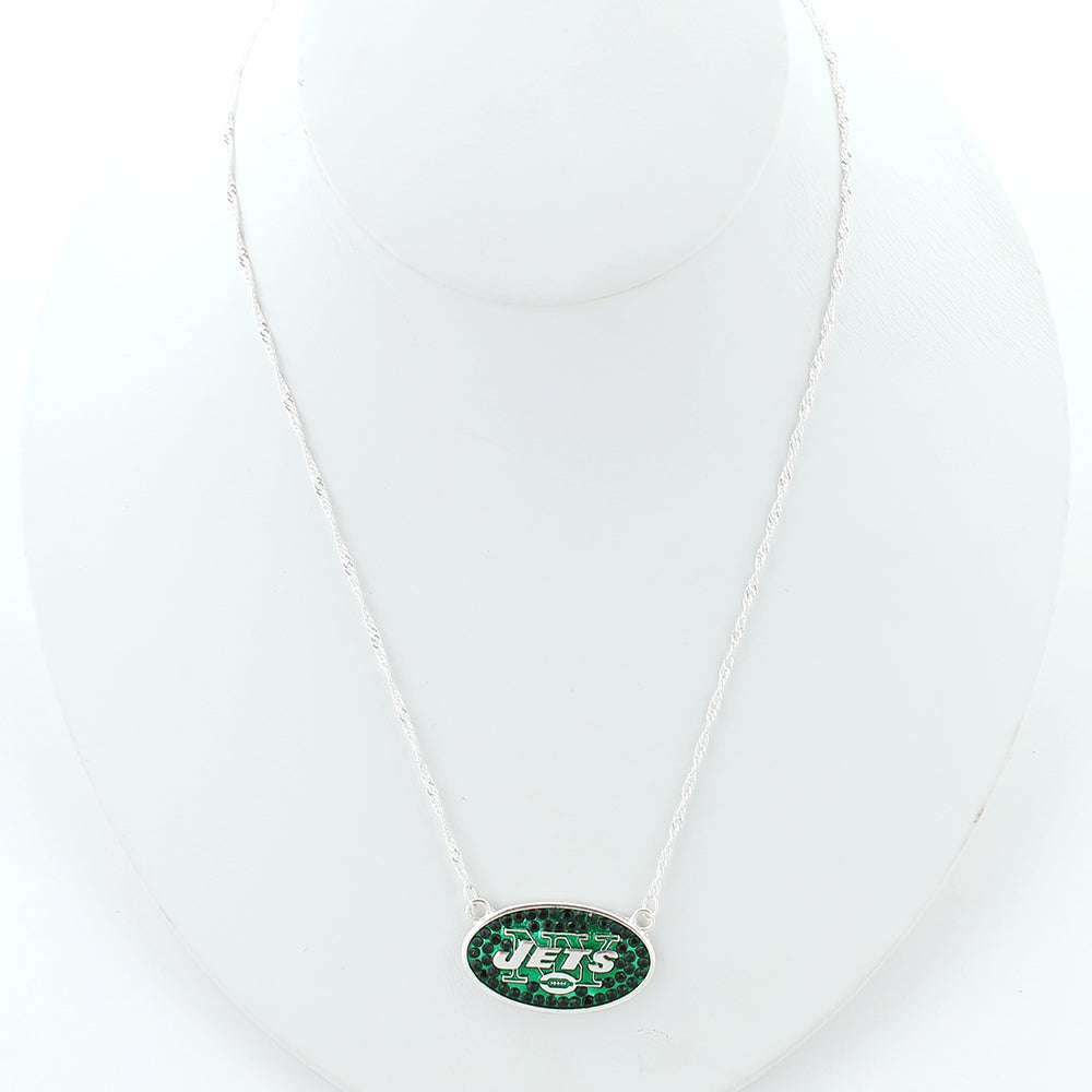 New York Jets Crystal Logo Necklace