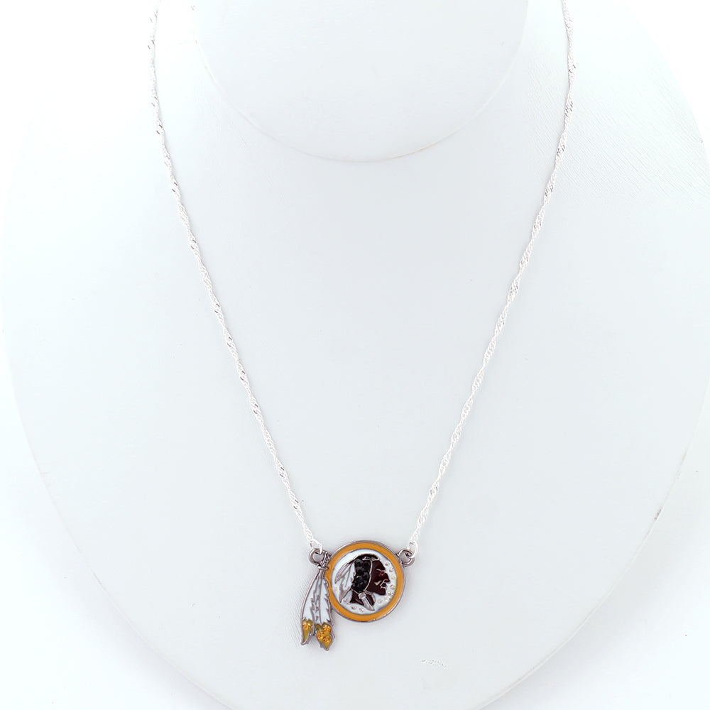 Washington Redskins Crystal Logo Necklace
