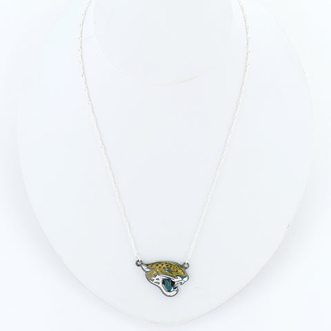 Jacksonville Jaguars Crystal Logo Necklace