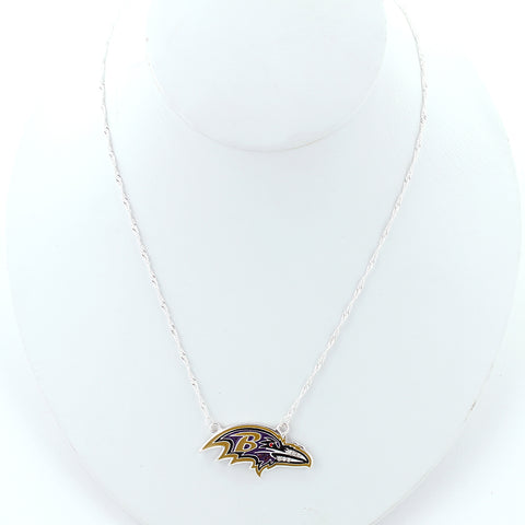 Baltimore Ravens Crystal Logo Necklace