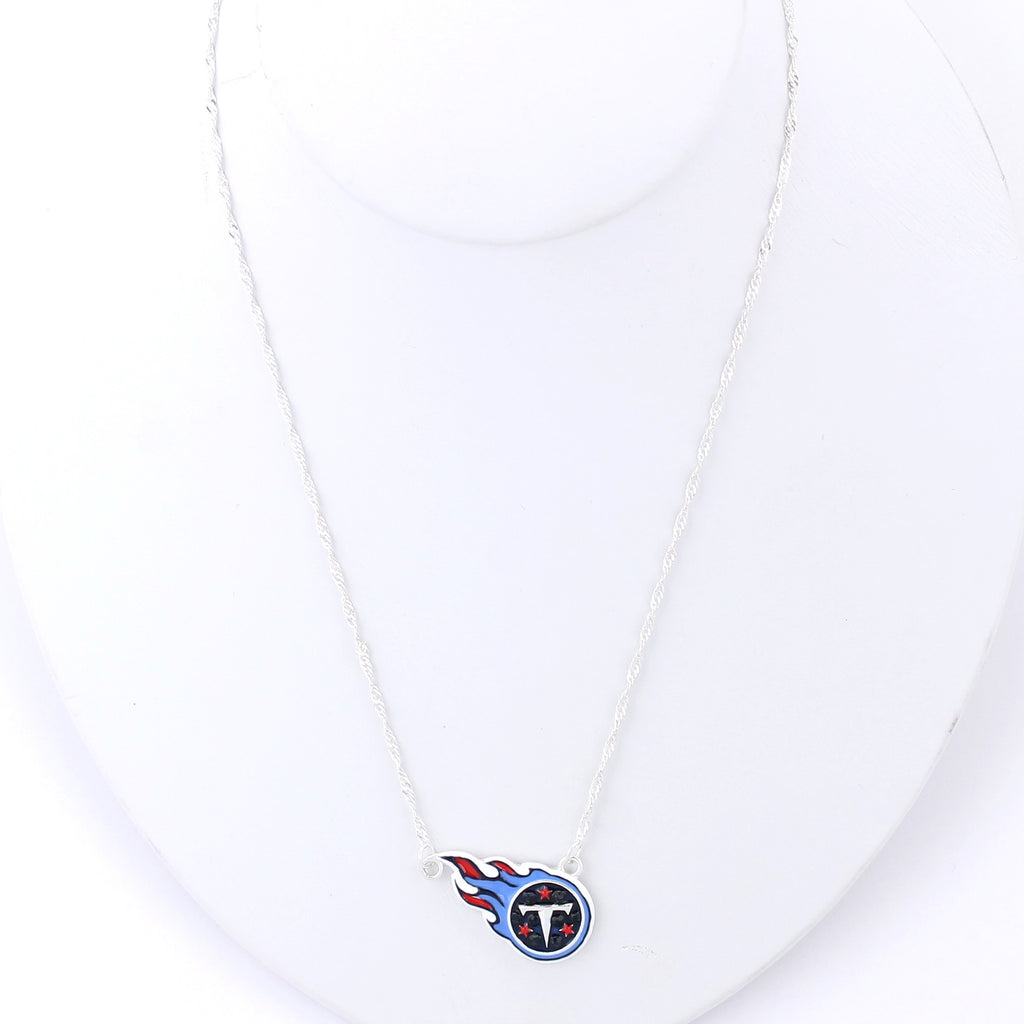 Tennessee Titans Crystal Logo Necklace