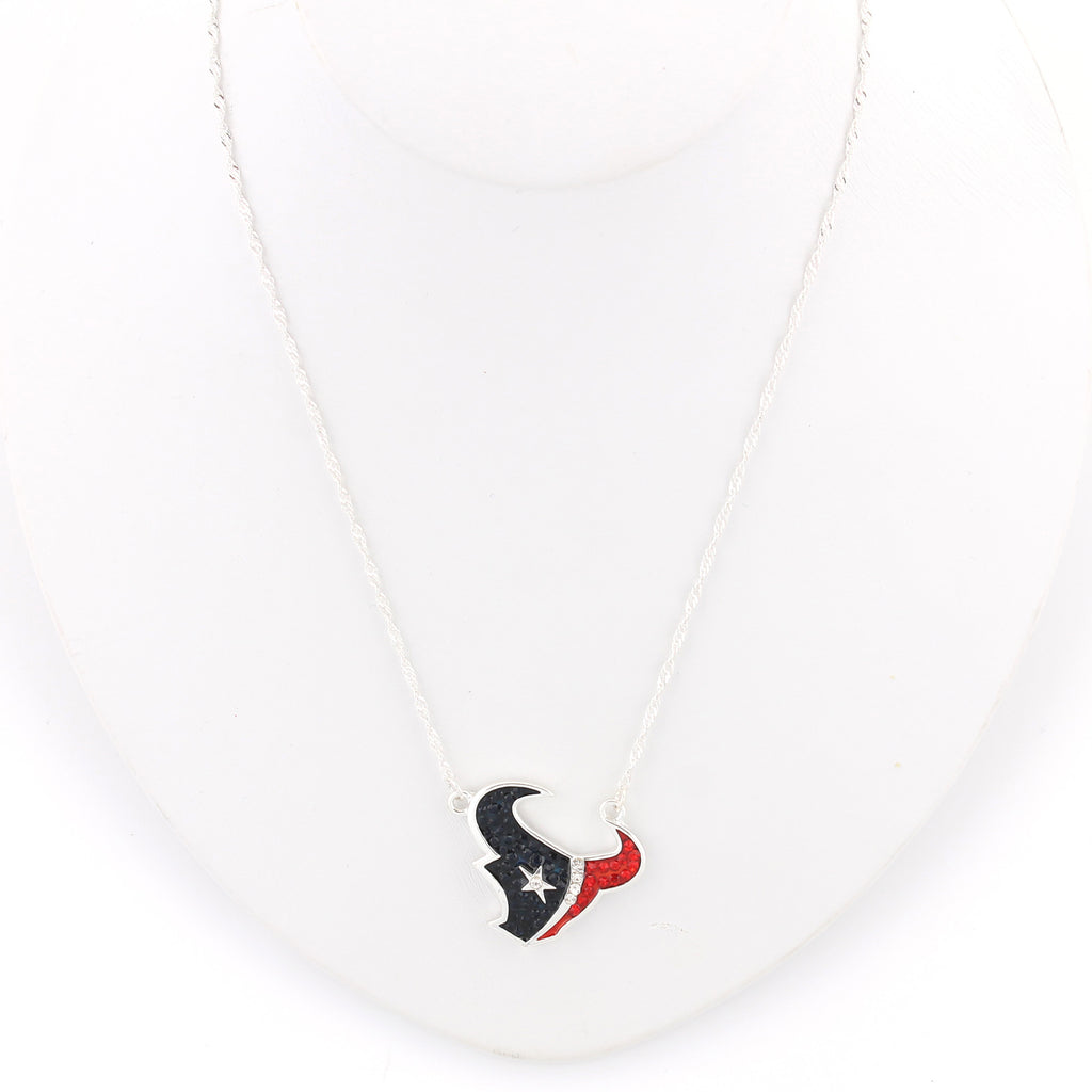 Houston Texans Crystal Logo Necklace