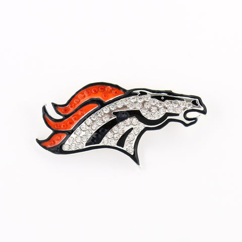 Denver Broncos Crystal Logo Pin
