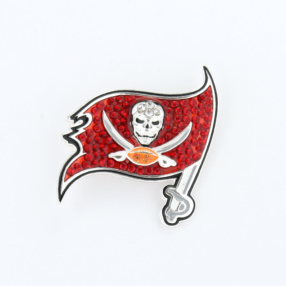 Tampa Bay Buccaneers Crystal Logo Pin