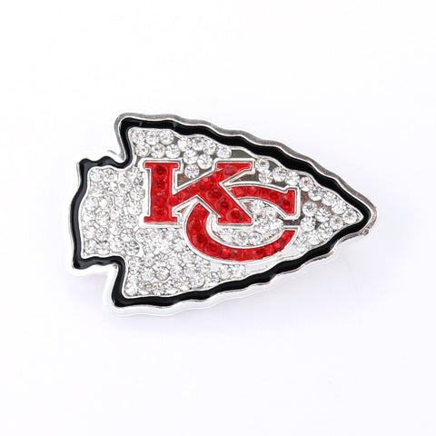 Kansas City Chiefs Crystal Logo Pin