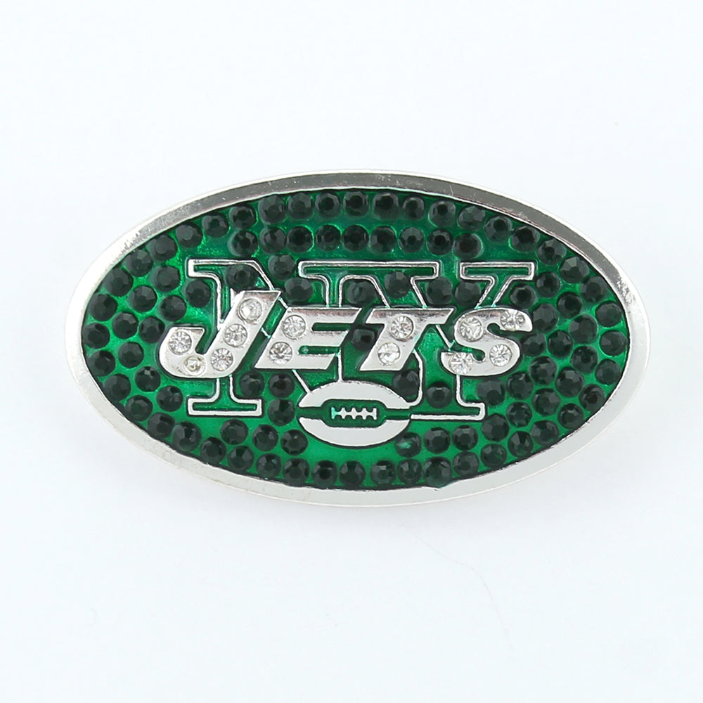 New York Jets Crystal Logo Pin