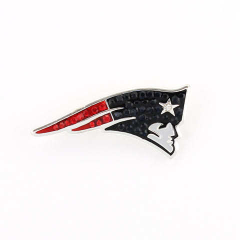 New England Patriots Crystal Logo Pin