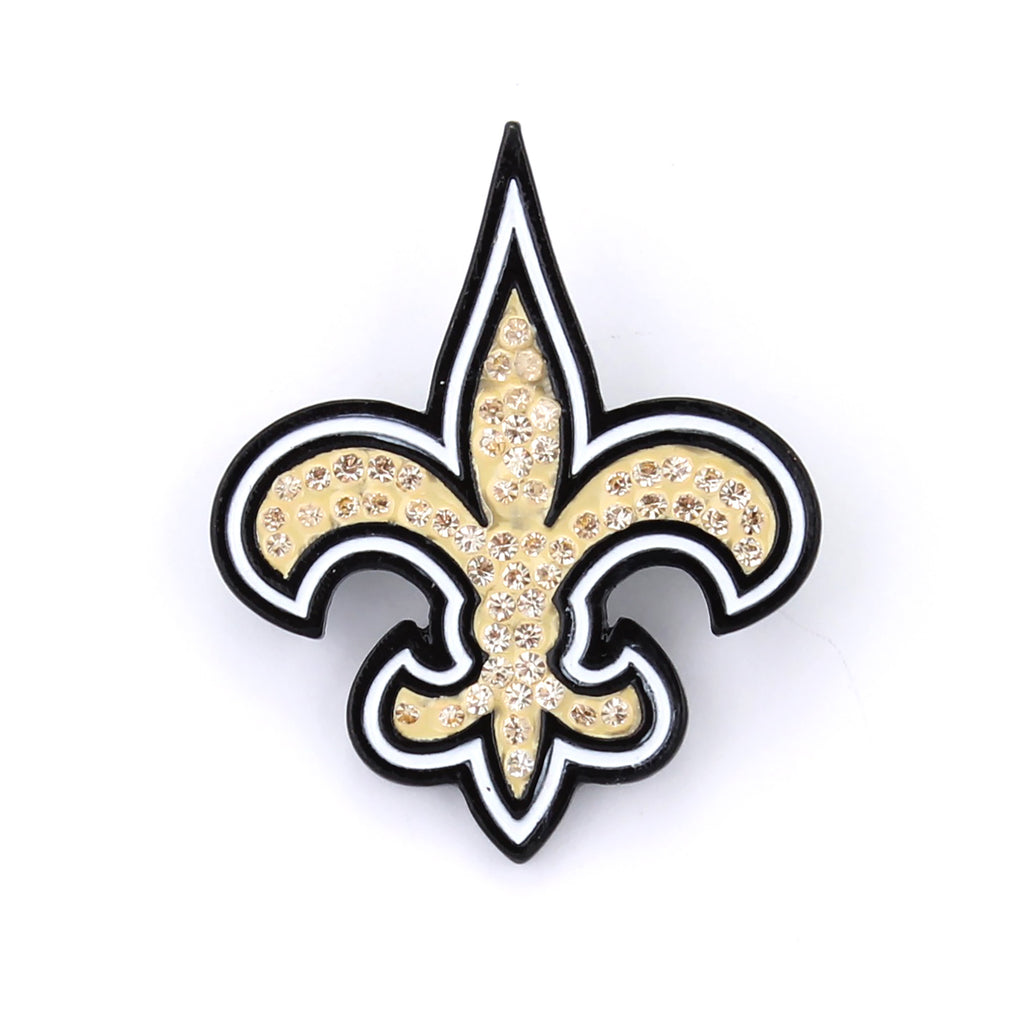 New Orleans Saints Crystal Logo Pin