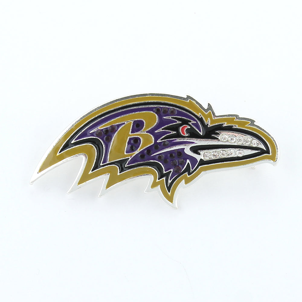 Baltimore Ravens Crystal Logo Pin