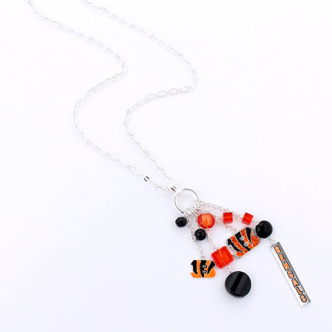 Cincinnati Bengals Cluster Necklace